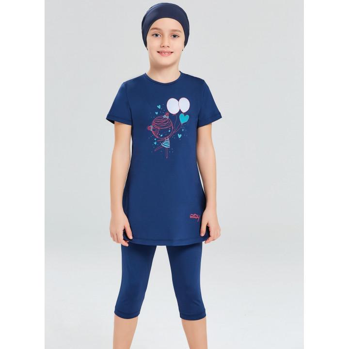 Детское буркини ДБ синий воздушные шарики