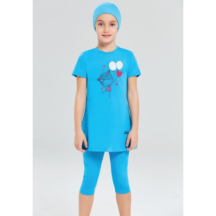 Детское буркини голубой воздушные шарики 1