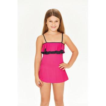 Детский купальник тонкая лямка розовый