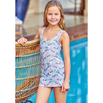 Детский купальник много пони голубой