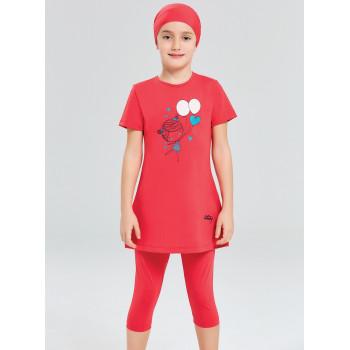 Детское буркини красный воздушные шарики 1