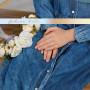 Длинное джинсовое платье