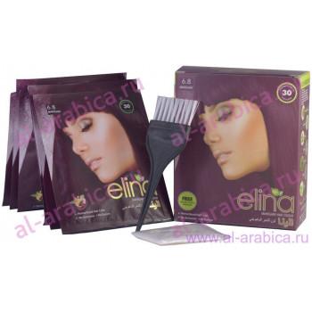 Хна для волос Elina Махагон Mahagony hair Color, 6*10 гр