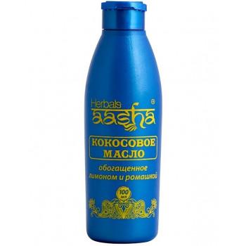 Кокосовое масло AASHA HERBALS для волос с лимоном и ромашкой 100 мл