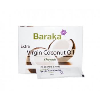 Кокосовое масло Baraka нерафинированное 36 пакетиков по 10 мл