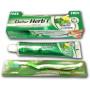 Зубной освежающий гель DABUR с мятой и лимоном 150 г + зубная щетка в подарок